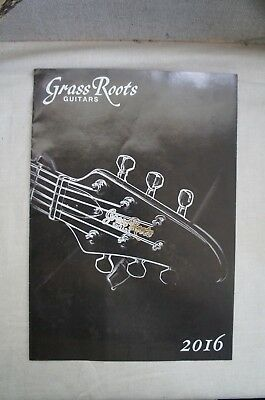 GrassRoots guitars catalog flyer 2016 from Japan