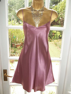 Vintage Style Secrets Slippery Slinky Satin Slip Chemise Short Nightie UK18