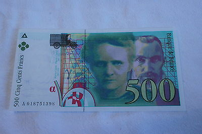 500 Francs  Marie Curie***neuf***