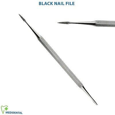 Podiatry Chiropody Instruments Black Nail File Double Ended Tools Foot dressing