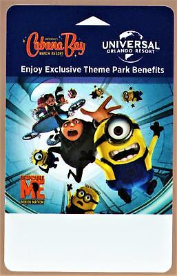 UNIVERSAL CABANA BAY BEACH RESORT *DESPICABLE  ME* ORLANDO hotel key card  #188