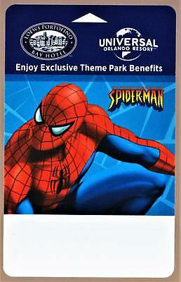 UNIVERSAL ORLANDO RESORT* SPIDER MAN *LOWES PORTOFINO BAY hotel key card # 31