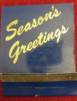 Large VINTAGE Christmas Card Matchbook - Personalized - Actual Unused Matches!