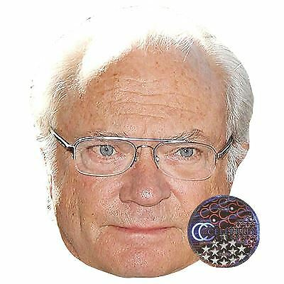 King Carl Gustaf Of Sweden Maske aus Pappe