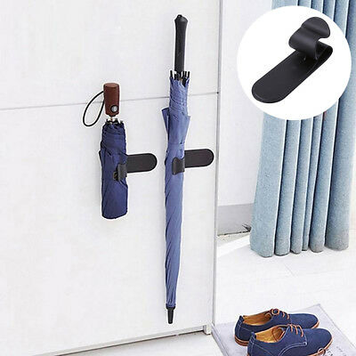 KD_ Vehicle Umbrella Hook Adhesive Holder Hanger Car Seat Clip Fastener Rack G