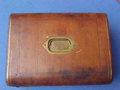 Large Victorian 1877 Leather- Covered Writing Slope Compendium