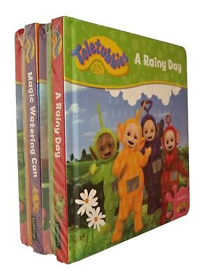 Teletubbies 4 Books Rainy Day Favourite Things Fun Board Nursery Baby New
