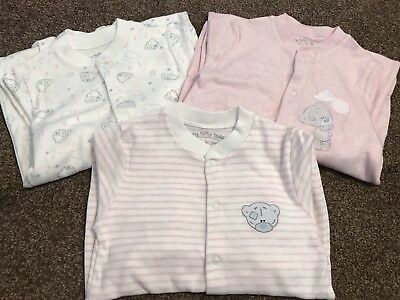 BNWOT Baby Girls 12-18 Months Me To You Sleepsuits Tiny Tatty Teddy From M&S