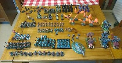 Warhammer Large Aos Seraphon Army Mostly Painted