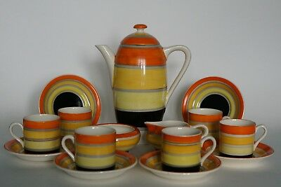 Grays Pottery - HARMONY - Coffee Service for 6 - ART DECO - Des. by Susie Cooper