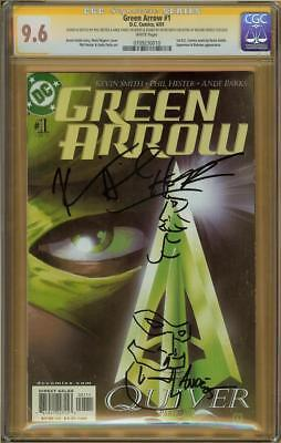 Green Arrow #1 CGC 9.6 SS PHIL HESTER & ANDRE PARKS w/Sketches + KEVIN SMITH