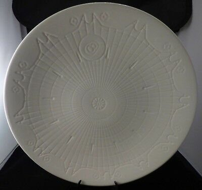 Leeds Pottery ~ Creamware Shallow Bowl ~ Roulette Wheel Design