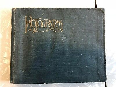 c. 1890s Photo Album 63 photographs 42 Cyanotype Westboro Mass. sports women