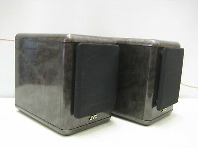 Pair of JVC Mini book shelf HI-FI Speakers model SP-UX5000 grey black