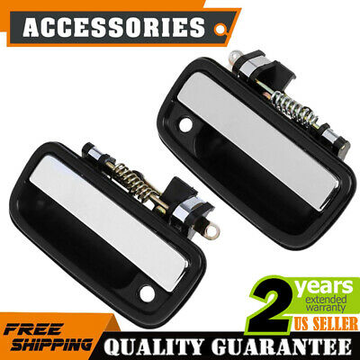 Chrome Outside Exterior Door Handle Pair Set for 89-95 Toyota Tacoma Pickup
