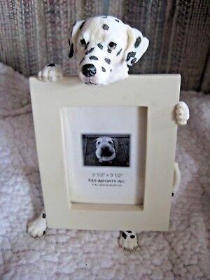 """E & S Imports Dalmatian Dog Photo Picture Frame 2-1/2"""" X 3-1/2"""" NEW without box"""