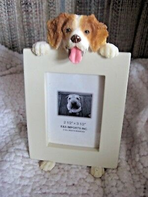 "E&S Imports Brittany Spaniel Dog Photo Picture Frame 2-1/2"" X 3-1/2"" NEW w/o box"
