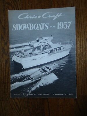Beautiful Vintage 1957 Chris Craft Showboats Brochure