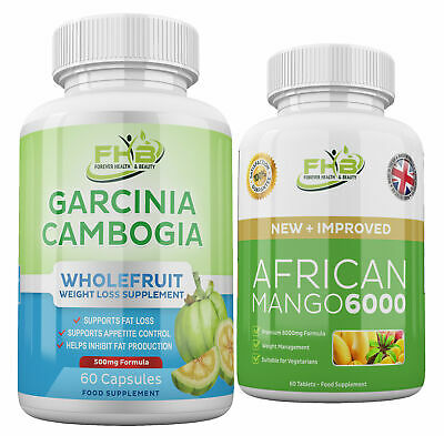 LOSE WEIGHT FAST ! AFRICAN MANGO Leptin FAT BURN + GARCINIA CAMBOGIA Diet Pills