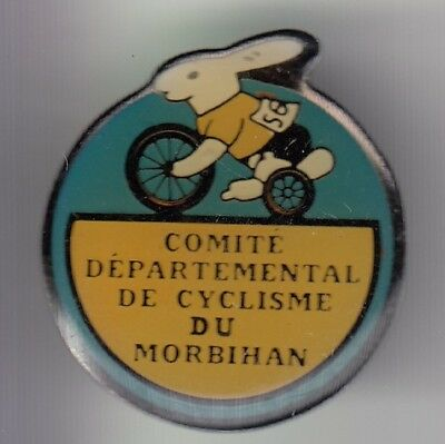 Rare Pins Pin's .. Velo Cyclisme Cycling Club Team Lapin Rabbit Morbihan 56  ~Dz