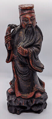 Antique Chinese Wood Carving of Wiseman