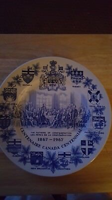 Alpine White wood & sons Canadian Centennial plate vintage