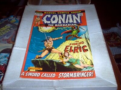 Conan The Barbarian # 14 B. Smith Art Coming Of Elric Issue Look Fn-