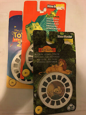 View-Master Set of 3 Lion King Toy Story 2 Dinosaur ALL UNUSED