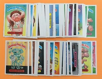 Lot (98) different ~ GARBAGE PAIL KIDS ~ Trading Sticker Cards 1985-86 ~ no dups