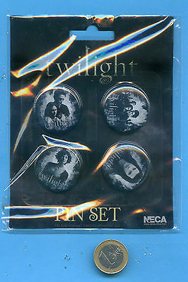 4 Badges Neuf Cinema   Twilight + 2 Plaques New Moon Twilight