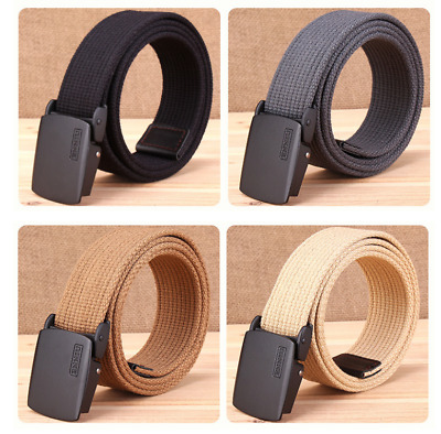 ENNIU Men Thick Canvas Belt Fashion Tactical Buckle Belt Zinc Alloy Buckles New