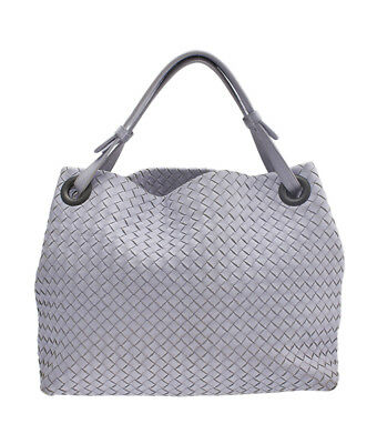 BOTTEGA VENETA AUTH Detachable Chain Intrecciato Mini Messenger ... 139155d9962ce
