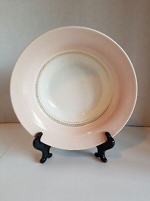 Limoges Candlelight Bowl Federal Coral Pink 22 Karat Gold USA