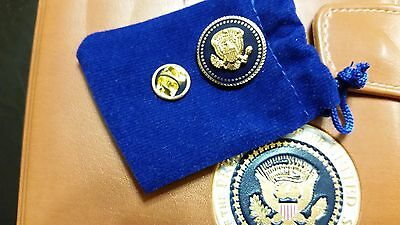 Lapel Pin Presidential President Donald Trump Blue Cobalt 22 K Gold-Plated