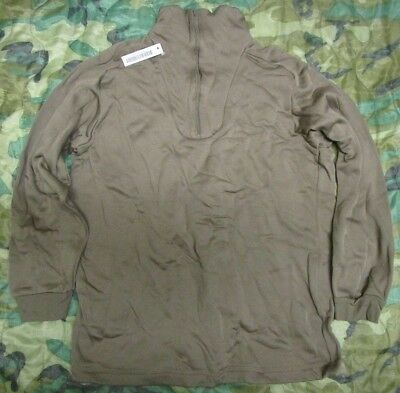 Genuine Us Army Brown Cold Weather Polypro Ecwcs Thermal Shirt/undershirt. Xxl.