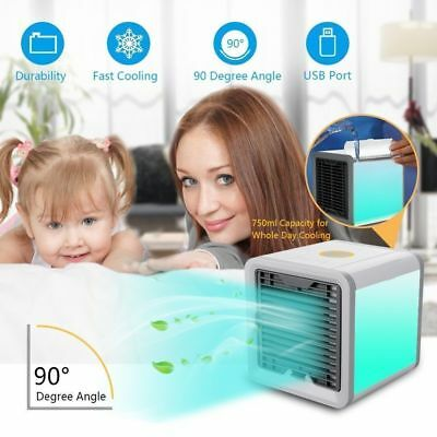 Artic Rafraichisseur d'air Climatiseur Ventilateur Mobile Humidificateur USB LED