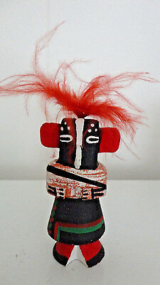 "Hopi Kachina ~ L Pooley Signed ~ 3 1/4"" Hand Carved Kokopeli ~ Perfect Condition"