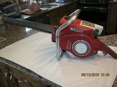 """Vintage Wright Power Gas Chain Saw Model GS-2016, """" Estate Find """" Rare, Must See"""
