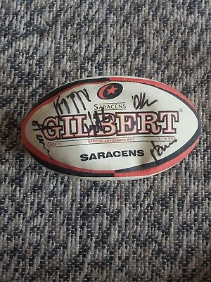 Offical Gilbert autograph rugby ball size 5 signed by Saracens players
