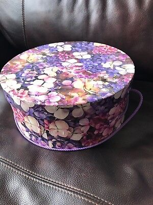 Tricoastal Design Purple Hydrangeas Hat Box