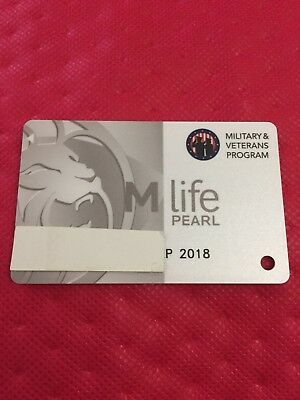 M Life Pearl Casino Slot Players Card with Logo for Military & Veterans Program