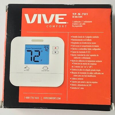 "VIVE TP-N-701 Non-Programmable, 1H/1C With 4"" Sq. In. Display"
