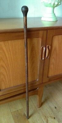 Antique / Vintage Colliery Miners Deputy / Managers  Wooden Walking Cane Stick