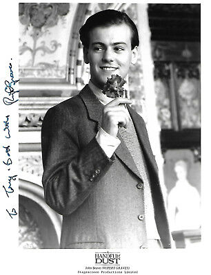 """RUPERT GRAVES in A HANDFUL OF DUST (1988). Hand-signed 10"""" x 8"""" portrait"""