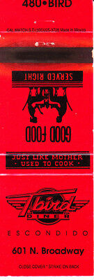 Matchbook Cover: .........TBIRD DINER, Escondido, CA