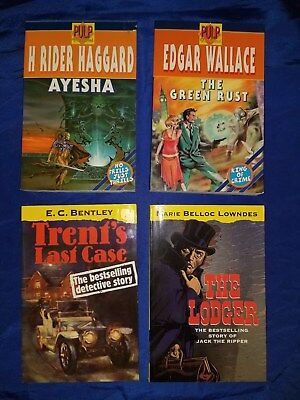 4 Vintage Pulp Story Reprint Books 1995-1999 Bentley Lowndes Haggard Wallace FN-