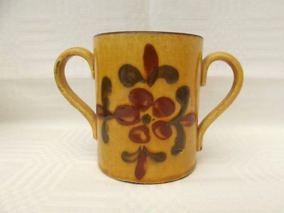 ANTIQUE EXETER ART POTTERY? 2 HANDLED LOVING CUP,c1900s