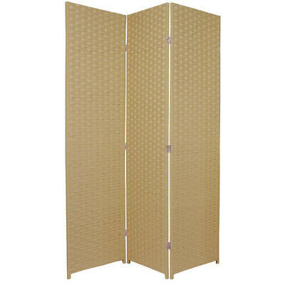 NEW 3 Panel Woven Room Divider Screen Home Storage and Living Room Dividers
