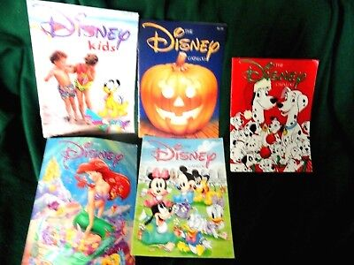 5 Disney Catalogs, 1991 Excellent Free Shipping