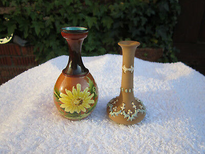 Two Doulton Miniature Bud Vases